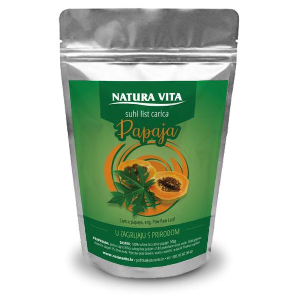 Čaj Papaja list 100g Natura Vita