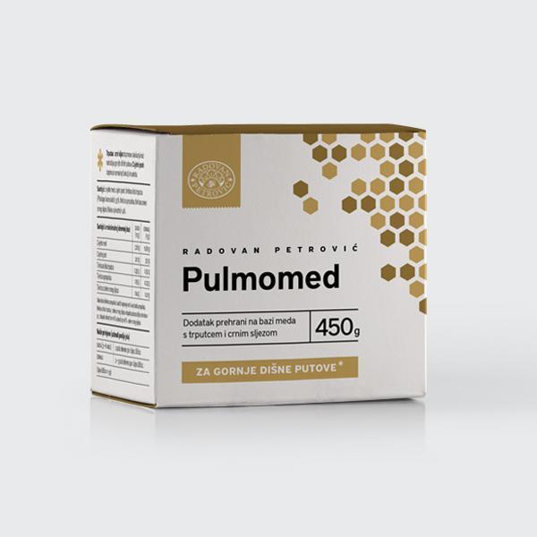 Pulmomed – Med s trpucem i crnim sljezom za gornje dišne putove 450g