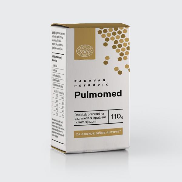 Pulmomed – Med s trpucem i crnim sljezom za gornje dišne putove 110g