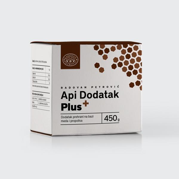 API DODATAK PLUS - MED S DODATKOM PROPOLISA PLUS 450G