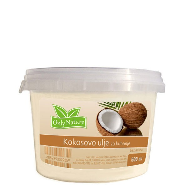 KOKOS BEZ MIRISA ZA KUHANJE 500ML ONLY NATURE