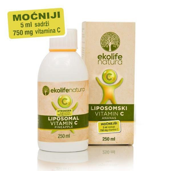 LIPOSOMALNI VITAMIN C (750 mg) 250ML EKOLIFE NATURA